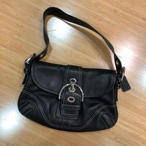 Small Black Coach Shoulder bag EUC!
